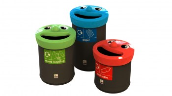smiley face bin cluster