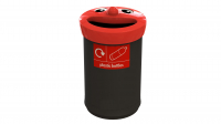 62 Bottles Novelty Faces Bin
