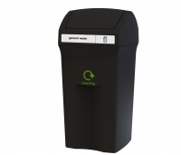 Envirobin 100 Black flip top general waste